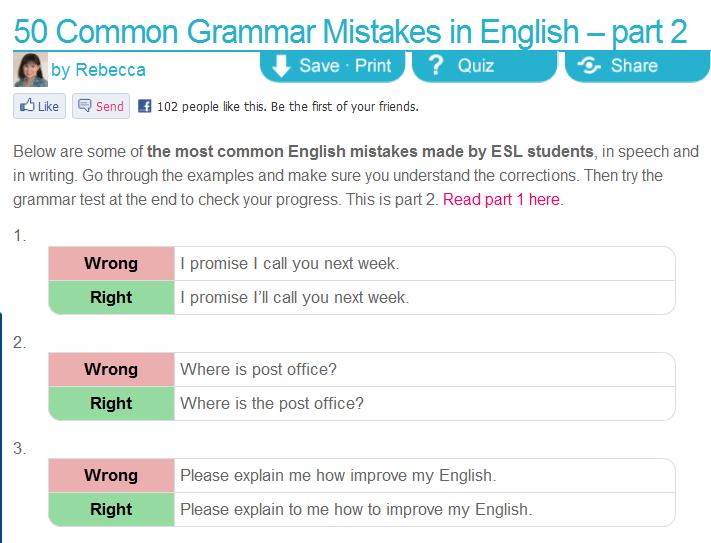 PANTIP COM : K13036941 (รีรัน) 50 Common Grammar Mistakes in